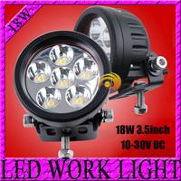 Free Shipping 18w LED Work Light offroad led driving light Truck Mini Boat led bar SUV ATV led fog lamp spotlight External Light