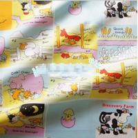 "Cartoon Pasture and Animals Comfortable Soft 100% Cotton Fabric 20"" X 63"" FCX57"