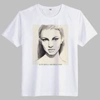 2014 New Arrival Men Fashion Classic Girl Printed Cotton T-Shirt Funny Slim Fit T Shirt High Quality