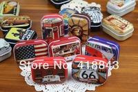Tin tin mini pack of pills retro debris storage box 16 models into Candy box