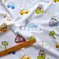 "Colourful Cartoon Motorcade Comfortable Soft 100% Cotton Fabric 20"" X 63"" FCX62"