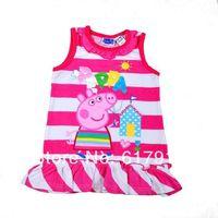 NEW 2014 summer girls peppa dress baby girl dresses 2014 toddler dresses peppa pig clothes girl dress lot  kids brand clothing