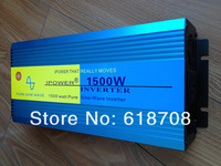 1500W Pure Sine Wave Power Inverter  DC 12V TO AC 110V, ROHS approved(3000W peak power)