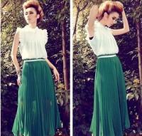 Free shipping, 2014 summer one-piece dress bohemia chiffon full dress solid color beach dress