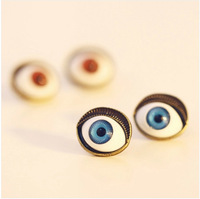 JD 2067 Free shipping small accessories punk stud earring blue red eyes for lady gift