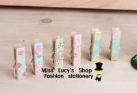 1lot =30pcs wood colorful Memo clips sets Decorative paper clips set kawaii stationery