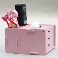 Fashion Small tissue box fashion multifunctional remote control storage box pumping paper box s003