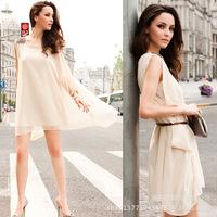 Women dresses New Spring Summer 2014 Europe and America Style Chiffon female dress Vestido