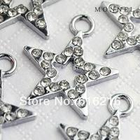 M18b 2014 Latest Design Wholesale 10 pcs Cute Crystal Star Charm Pendant