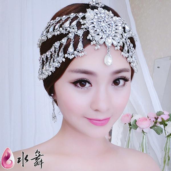 Free Shipping bride rhinestone luxury hair accessory wedding dress marriage wedding jewelry eyebrows headdress