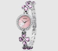 Bracelet Watches Shamrock Women Dress Watches Quartz Wristwatches Luxury High Quality Stainless 2014 Brand KIMIO Diamond