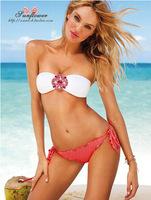 Free shipping Sexy Women's Bikini Push-up Padded Bra Swimsuit Bathing Rose Suit Swimwear