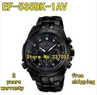 New EF-535BK-1AV EF-535BK 535BK Men's Chronograph Sport Watch Gents Wristwatch