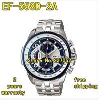EF-558D-2AV NEW EF-558D 558D NEW MEN'S CHRONOGRAPH BLUE DIAL WATCH GRENTS WRISTWATCH