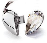 pen drive Diamond love heart 1-32GB Heart Jewelry usb flash drive flash memory stick  gift
