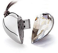 pen drive Diamond love heart 1-32GB Heart Jewelry usb flash drive flash memory stick  gift