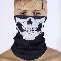 2014 special offer real geometric adult halloween skull skeleton motorcycle bicycle ski functional headwear hat scarf half fac