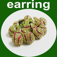 Crystal Rhinestone Fastpitch Softball/Baseball Stud Earrings
