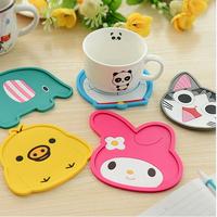 S0810 Free shipping minimum order $10 (mix order) cute cartoon animal coasters silicone pad slip-resistant pad soft pad bowl pad
