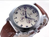 New 2014 Men military leather brand Automaticself-wind relogios wristwatch mechanical hand wind sport luxury watch for man