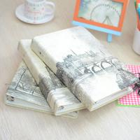 2014 Romantic lianhua vintage ring binder eiffel tower loose-leaf folder notebook notepad 2021006