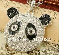 Free Shipping Panda Face Full Imitation Diamond Pendant Necklace N267