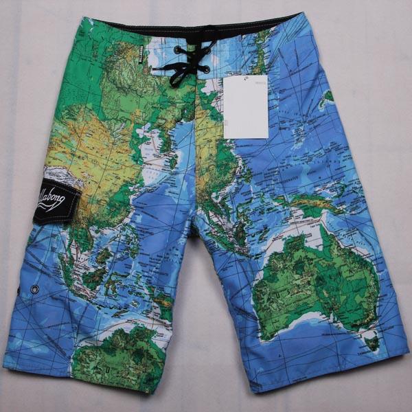 Venta al por mayor 2014 nuevos hombres de pantalones cortos de playa mapa rápida- secado boardshorts comercio exterior pantalones + envío gratis