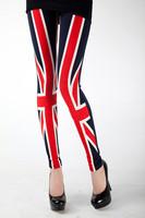 2014 High Quality England Style Pants for Women New Spring Flag Print Women's Leggings