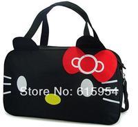 freeship promotion hellokitty cat travel bag classic black tote bag supersize handbag 1328
