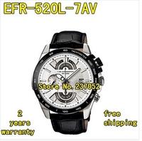 EFR-520L-7AV New Men's Watch Chronograph Brown Leather EFR-520L EFR 520L Wristwatch EFR-520L-7A