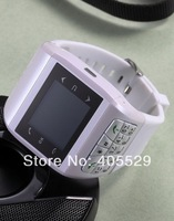 Mini Watch Mobile watch cell phone Dual Sim Card Quad Band Compass Camera FM Bluetooth Touch Screen Watch mobile Free Shipping.