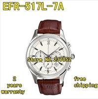EFR-517L-7A New EFR-517L 517L Men Sport Chronograph leather Watch EFR-517L-7AV
