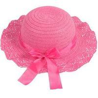 Hotselling Kids Girls Baby Lace Node Brim Summer Beach Sun Straw Hat Cap Princess basin caps Children Sun caps 670941