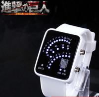 2014 Hot Sale anime watch Japan Attack on Titan(Shingeki no Kyojin) watch led electronic watch cartoon gift for kids women men