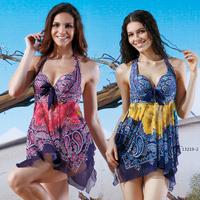 2014 split swimwear female dress style steel push up fashion