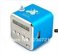 Free shipping TD-V26 USB speaker TF card sound box + FM radio + Card reader + 100% original portable mini speaker 10pcs