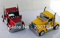 Newest Fashion card Speaker mini truck bass speaker cartoon car model soung box with FM radio u disk TF card slot 30pcs dhl free