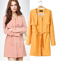 Z ra2014 autumn new arrival women's fashion medium-long trench female outerwear spring and autumn slim autumn overcoat outerwear