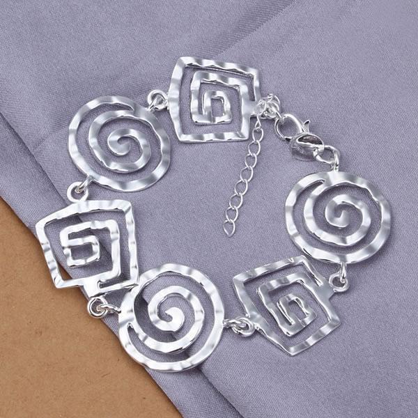 Lose Money! Free Shipping Wholesale 925 silver bracelet, 925 silver fashion jewelry Screw bracelet H324(China (Mainland))