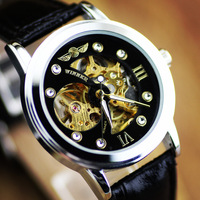 Winner Fully-automatic mechanical Sport WristWatch Analog Hollow Mechanical Watches WINNER Fashion Casual watches New 2014