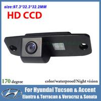 Night vision CCD HD Car backup camera for Hyundai Elantra Tucson Accent Terracan Veracruz Sonata waterproof car parking camera