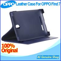 In Stock! 100% Original OPPO Find 7 3GB RAM 4G LTE 5.5inch 2560X1440 Phone Leather Case,Leather Case for Oppo find 7 + Gifts