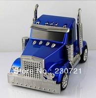 Truck Speaker cartoon car model mini 3D stereo music MP3 FM speaker support micro SD/TF card u disk Children toys 50pcs dhl free