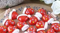 Free ship!!! Christmas gloves 20mm Christmas cap 28mm simulation cream phone beauty DIY accessory  wholesale