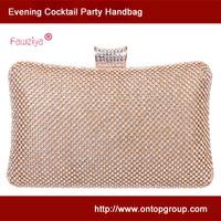 Middle Size Roomy Accessory Holder - Diamond Women Evening Cluth Bag - Wedding handbag
