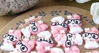 Free ship!!!      Rice lu's rabbit    24mm simulation cream phone beauty DIY accessory  wholesale