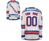 Custom Your Name Number Ice Jerseys Cheap New York Rangers Customized Personalized Hockey Jersey,Embroidery Logos.Size 48-56