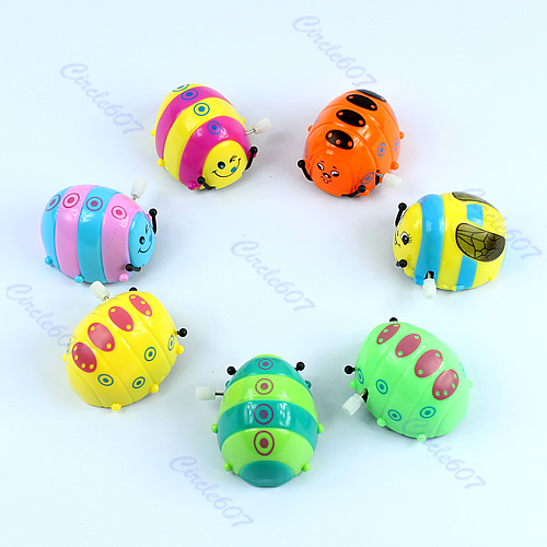 """M112""""Funny Colorful Baby Kid Beetle Thumbing Somersault Running Clockwork Spring Toy(China (Mainland))"""