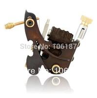 Handmade Tattoo Machine  Gun Free Shipping Cast Iron Frame 8 Wrap Coil Dual-coiled Tattoo Machine Gun Shader  Liner