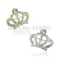 Free Shipping!New 30pcs /lot Tiara Brooch Decorative Garment Crystal Brooch Wedding Bridal Shiny Rhinestone Crown Brooch Pin
